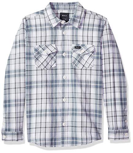 RVCA Jungen WATT Flannel Long Sleeve Woven Shirt Button Down Hemd, Mirage, XL