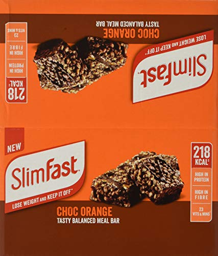 SlimFast Meal Replacement Bar Choc Orange, 720 g