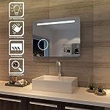 sunnyshowers LED Bad Spiegel 80 x 60cm wandspiegel Badezimmer Lichtspiegel Badspiegel mit...