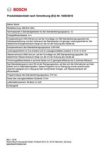 Bosch SMU53L15EU Unterbau Geschirrspüler - 8