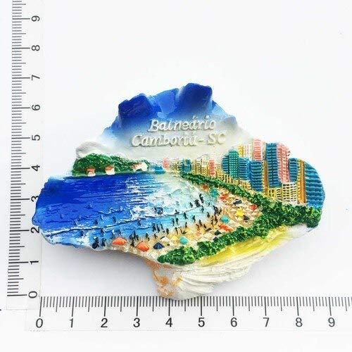 Anyiruo Brasil imanes de nevera pegatinas Brasil Rio De 3d resina magnética nevera pegatinas decoración hogar viaje regalo artesanía
