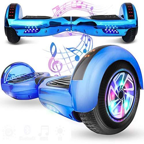 Magic Vida 6.5´´ Patinete Eléctrico Bluetooth Scooter Monopatín Auto-Equilibrio Patín (Camuflaje Rosa)