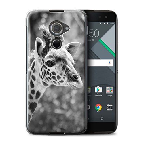 Hülle Für BlackBerry DTEK60 Zoo-Tiere Giraffe Design Transparent Ultra Dünn Klar Hart Schutz Handyhülle Case
