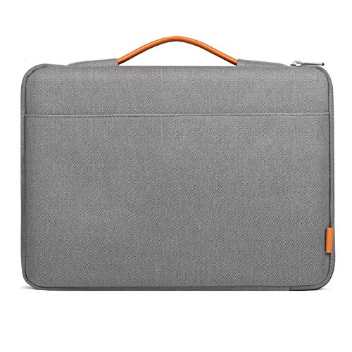 Inateck 15.6 Inch Laptop Sleeve Compatible with Asus/Dell/HP/Lenovo/Toshiba Notebook, Ultrabook Briefcase,Netbook Carrying Case Bag with Handle- Gray