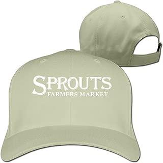 DMN Unisex Sprouts Farmers Market Baseball Hip-hop Cap Vintage Adjustable Hats for Women and Men Black,One Size
