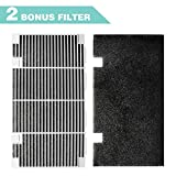 Seven Sparta RV A/C Ducted Duo-Therm Air Grille for Dometic 3104928.019, Replace Air Conditioner Grill with 2 Filter Pad, 14.1' x 7.7' Polar White