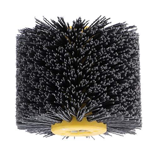 SDENSHI Nylonbürste, Drahtziehrad Pinsel Polieren Polierscheibe, 20 mm Bohrung, Durchmesser: 120 mm, Schleifbürste - 180 Körnung