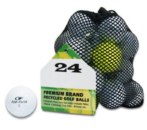 Second Chance Top Flite 8 balles de golf recyclées de catégorie A