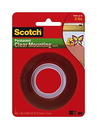 3M Scotch Heavy Duty Mounting Tape, Clear (4010) by Scotch