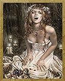 Frances, Victoria - Vampire Girl - Mini Poster Fantasy Poster Gemälde Frau - Grösse 40x50 cm + Wechselrahmen, Shinsuke Mini MDF Eiche, Acryl-Scheibe