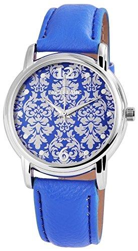Excellanc 195023000194 - Reloj de Pulsera Mujer, imitación de Cuero, Color Azul