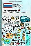 Tailandia Mi Diario de Viaje: Libro de Registro de Viajes Guiado Infantil - Cuaderno de Recuerdos de Actividades en Vacaciones para Escribir, Dibujar, Afirmaciones de Gratitud para Niños y Niñas
