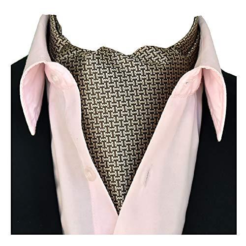 FVAL Herren Krawattenschal Elegant Blumenkleid Ascot Seidenschal Paisley Jacquard Anzug Zubehör Langer Schal Geeignet für Business-Dating-Partys