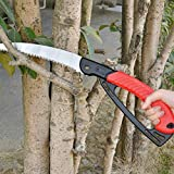 Gardtech Folding Tree Saw, Foldable Pruning Saw, Sharp Hand Saws with 10' Long SK5 Blade, Safety Lock, Blade Saver, Non-Slip Handle - Perfect for Pruning Trimming Trees Branches Wood Camping