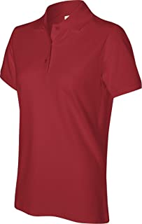 Women's Silk Wash Short Sleeve Pique Polo Shirt