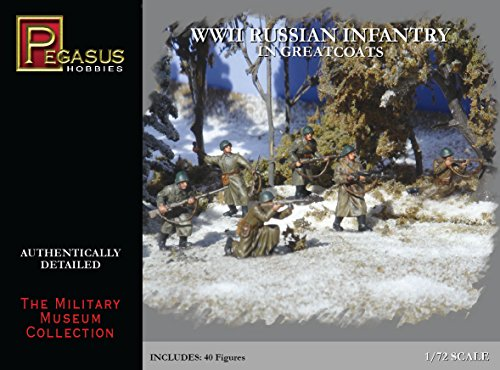 'Pegasus pg7271 – Figurine – 1/72 WW II : Infanterie Russe dans Verts mänteln