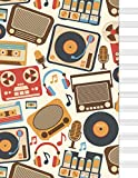 Cuaderno de música: libreta musica pentagrama...