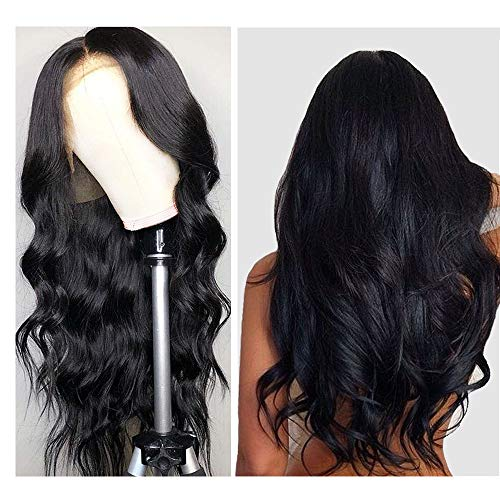 Body Wave Lace Front Wig, VIPbeauty Brazilian Body Wave Remy Human Hair Lace Front Wigs for Black Women 150% Density Glueless Wavy Lace Frontal Wig Pre Plucked with Baby Hair