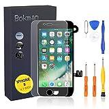 bokman LCD Pantalla para iPhone 8 Reemplazo de Pantalla LCD con Cámara Frontal, Sensor Flex, Altavoz Auricular y Herramientas de Reparación(Negro)