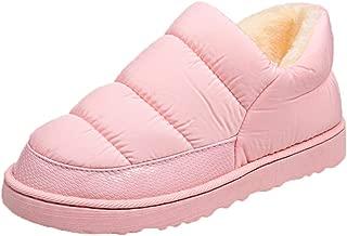 UOKNICE Women Leisure Snow Boots Bread Flat Shoe Inner Wool Winter Waterproof Keep Warm Bare Boots