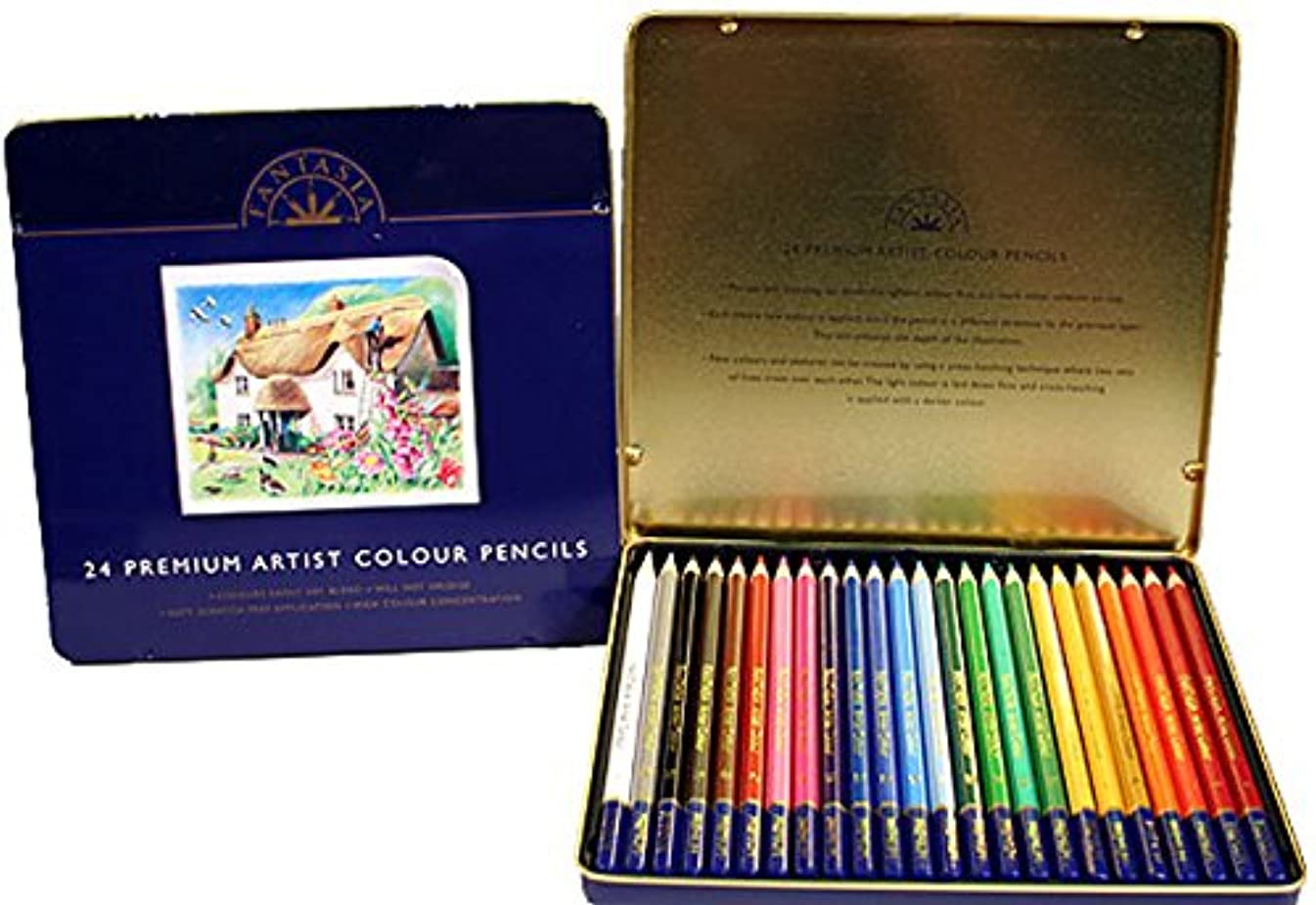 Premium 24 Piece Color Pencil Set