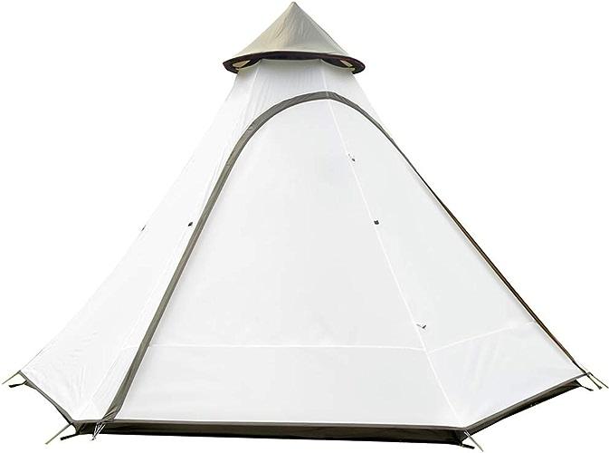 Tente 3-4 Personnes Imperméable Et Coupe-Vent Besoin De Construire Camping Randonnée Blanc Brun Blanc,blanc