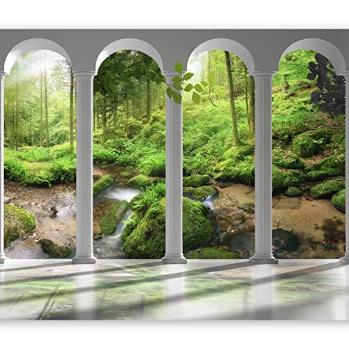 murando - Fotomurali adesivi Foresta Bosco 392x280 cm - carta da parati audoadesiva - carta da parati moderna - fotomurale - carte da parati - Natura Albero verde Architettura Colonna c-C-0187-a-a