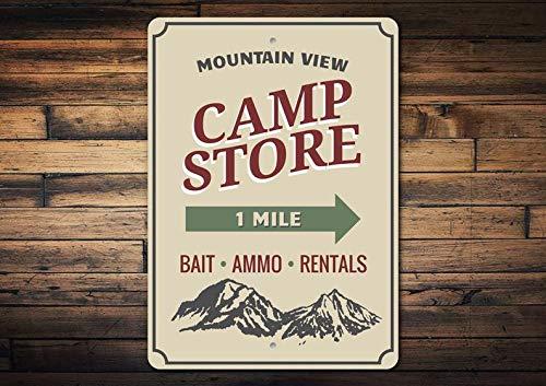 Domwtyrper Camp-Shop-Schild,...