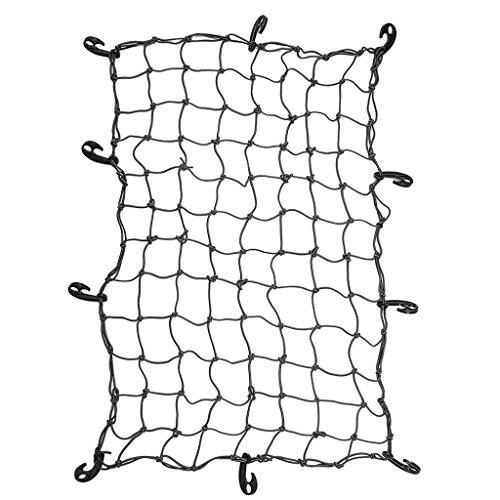Jili Online Roof Cargo Securing Net Luggage Rack Basket Net 155x95cm for Vehicle Travel Camping - Black, 120x80cm