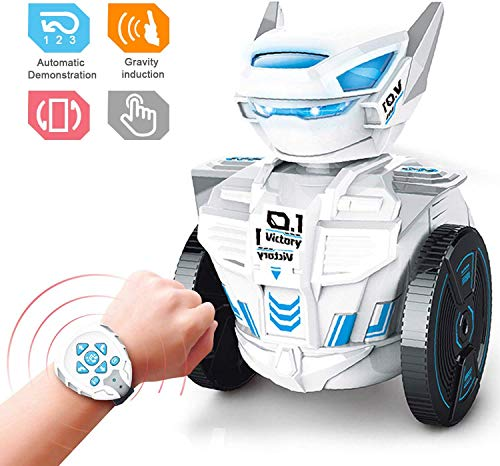 PCtech Remote Control Robot Toys,Gravity STEM Watch Sensor RC Robot Dogs Vehicles Toys,Intelligent Gravity Induction Robot for Kids Ages 3-9 Year Olds and Up,Learning Educational Best Gift