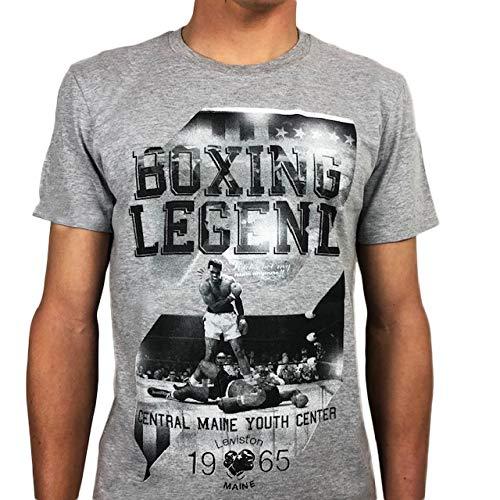 Victory28 Muhammad Ali Boxing Legend - Camiseta deportiva para hombre, color gris