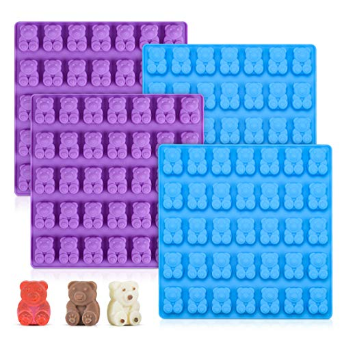 Candy Molds Silicone Gummy Bear Molds - 1 Inch Cute Bear Chocolate Molds Food Grade Silicone Molds 4 Pack
