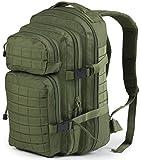 Nitehawk - Sac à dos multifonction avec système d'attache MOLLE - style militaire - 30 L - Vert olive