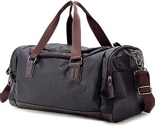 Mens Waterproof Dust Resistant PU Leather Travel Duffel Bag Caual Weekend Sports Gym Tote Handbag
