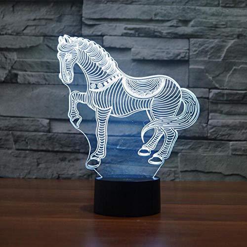 BFMBCHDJ Neue Acryl Atmosphäre Lampe Zebra USB Kleine Nachtlicht Sieben Farbwechsel LED Dekoration Schlafzimmer licht Kinder Geschenk