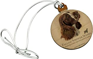 GRAPHICS & MORE English Springer Spaniel Dog Breed Mini Small Tiny Wood Christmas Tree Holiday Ornament