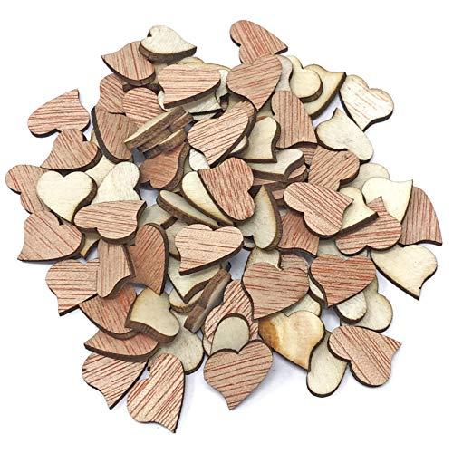 15 mm vague cœurs en bois style shabby chic Craft Scrapbooking vintage Hearts 15mm marron