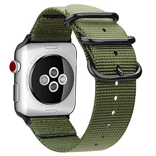 FINTIE Cinturino per Apple Watch 44mm 42mm, Nylon Tessuto Sport Regolabile...