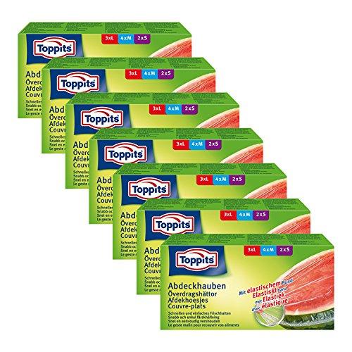 Toppits Abdeckhauben mit elastischem Bund, 7er Pack (7 x 9 Hauben)
