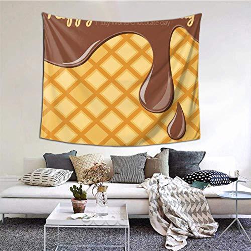 XiexHOME Frauen Wandteppich Köstliche süße Schokolade Zitate Wanddekoration 152 x 130 cm (60 x 51 Zoll) Wandbehang Kunst Wohnkultur Polyester für Wohnzimmer Schlafzimmer Wohnheim