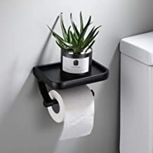 Roestvrijstalen toiletrolhouder badkamer wandmontage keukenrolhouder telefoonhouder plank handdoekenrek -E