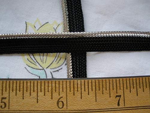 Silver Metallic Black Piping Lip Large special price Cord Mi Mini Edging Trim 8