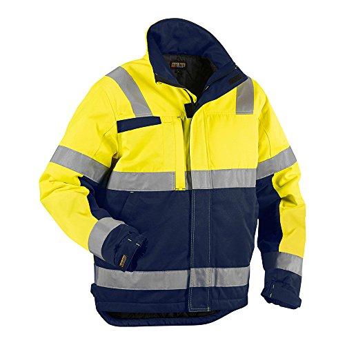 Blakläder 486218113389S High Vis winterjas, klasse 3, maat S, geel/marineblauw