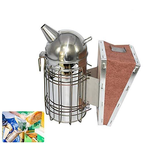 Conveniente Suministros Equipo de acero inoxidable de la apicultura Fumador Caja de herramientas colmena for la colmena de abeja Fabricante de Humo manual con las herramientas col Hook decorativo