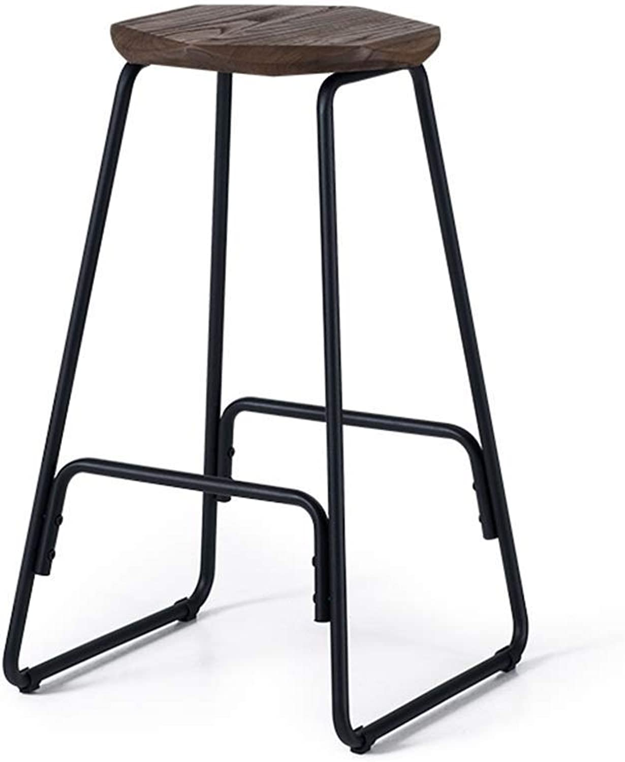 Bar Stool, Rectangular Bar Chair, High Stool with Backrest Seat, Breakfast Cafe Bar, Maximum Load  150kg, 39x32x67 cm Retro Bar Chair Design (color    3)