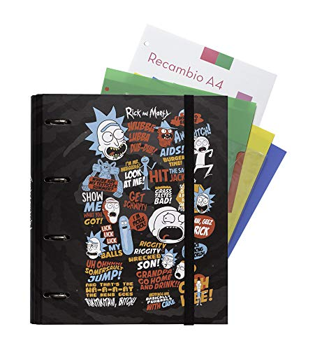 Grupo Erik Editores Rick & Morty - Carpeblock con 4 anillas, 32 x 27.5 cm