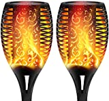 XERGY Solar Lights Outdoor Waterproof Dancing Fire Mashaal Flame Torch 96 LED Lantern Landscape Decoration Lighting Dusk to Dawn Auto On/Off Security Torches for Garden Balcony Driveway's (Pack of 2)