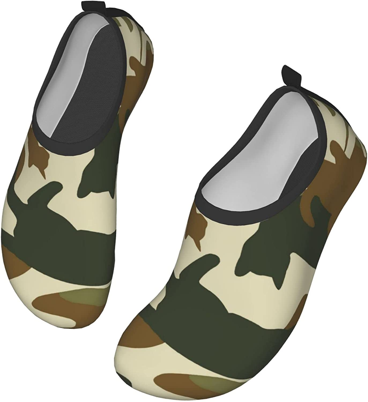 Camo Cat Water Shoes Mens Womens Aqua Socks Quick Dry Barefoot Swim Beach Shoes for Pool Yoga Surfs Exercise