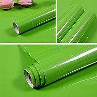 壁紙 40Cm幅の自己粘着性壁紙食器棚家具紙キッチンキャビネットウォールステッカー部屋の装飾フィルム-Green_40Cm_X_5M