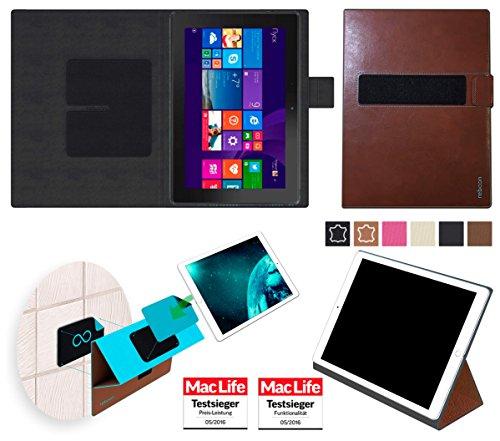 Hülle für Dell Venue 10 Pro LTE 64 GB Cover Hülle Bumper | in Braun Leder | Testsieger